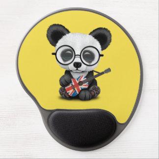 Baby Panda Playing British Flag Guitar Gel Mouse Pad
