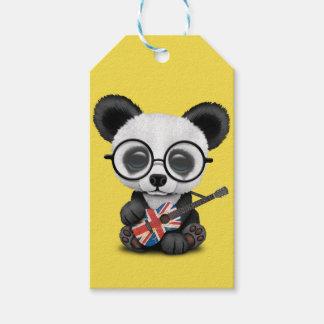 Baby Panda Playing British Flag Guitar Gift Tags