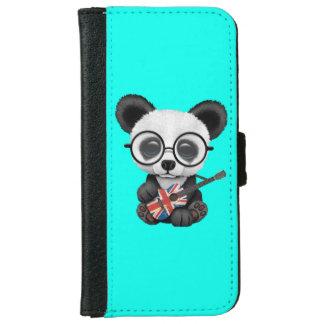 Baby Panda Playing British Flag Guitar iPhone 6 Wallet Case