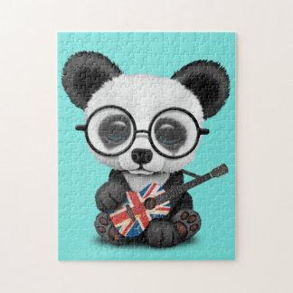 Baby Panda Playing British Flag Guitar Jigsaw Puzzle