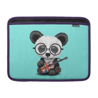 Baby Panda Playing British Flag Guitar Sleeve For MacBook Air