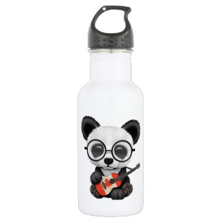 Baby Panda Playing Canadian Flag Guitar 532 Ml Water Bottle