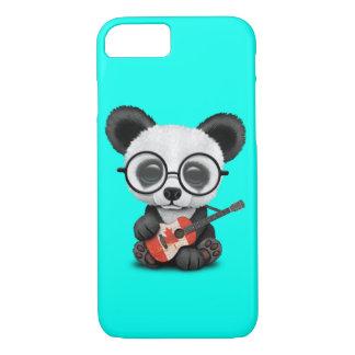 Baby Panda Playing Canadian Flag Guitar Case-Mate iPhone Case