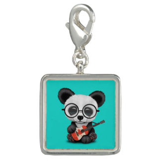 Baby Panda Playing Canadian Flag Guitar Charm