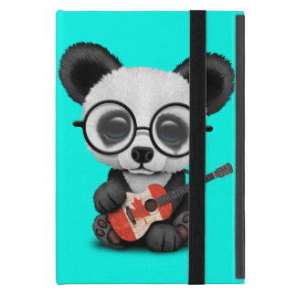 Baby Panda Playing Canadian Flag Guitar Cover For iPad Mini