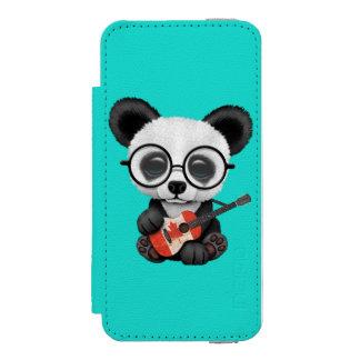 Baby Panda Playing Canadian Flag Guitar Incipio Watson™ iPhone 5 Wallet Case