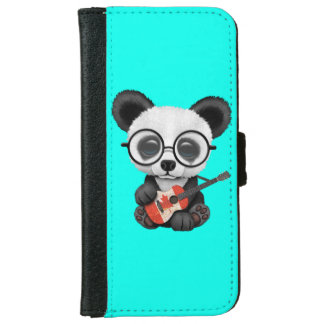 Baby Panda Playing Canadian Flag Guitar iPhone 6 Wallet Case