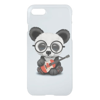 Baby Panda Playing Canadian Flag Guitar iPhone 8/7 Case