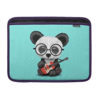 Baby Panda Playing Canadian Flag Guitar MacBook Sleeve