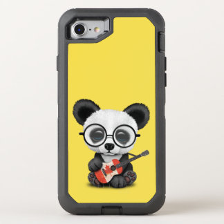 Baby Panda Playing Canadian Flag Guitar OtterBox Defender iPhone 8/7 Case
