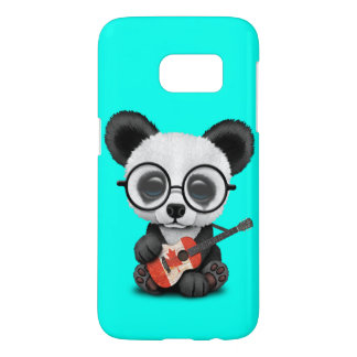 Baby Panda Playing Canadian Flag Guitar Samsung Galaxy S7 Case