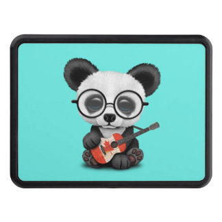 Baby Panda Playing Canadian Flag Guitar Trailer Hitch Cover