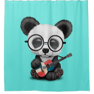 Baby Panda Playing Dominican Flag Guitar