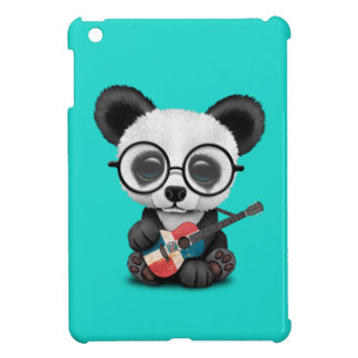 Baby Panda Playing Dominican Flag Guitar Cover For The iPad Mini