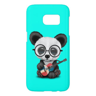 Baby Panda Playing Dominican Flag Guitar Samsung Galaxy S7 Case