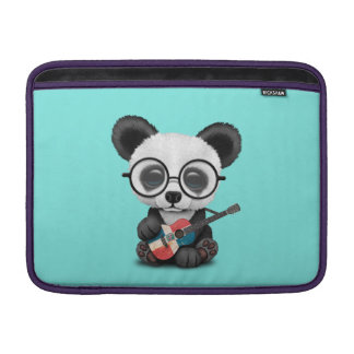 Baby Panda Playing Dominican Flag Guitar Sleeve For MacBook Air