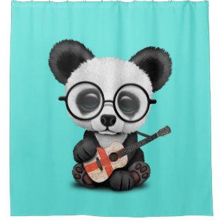 Baby Panda Playing English Flag Guitar