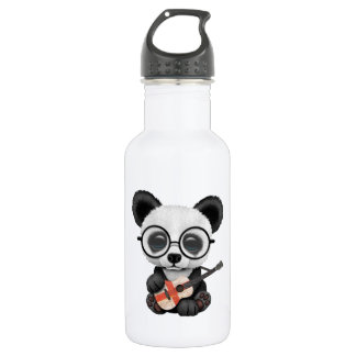 Baby Panda Playing English Flag Guitar 532 Ml Water Bottle