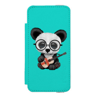 Baby Panda Playing English Flag Guitar Incipio Watson™ iPhone 5 Wallet Case