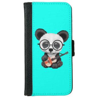 Baby Panda Playing English Flag Guitar iPhone 6 Wallet Case