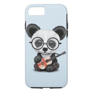 Baby Panda Playing English Flag Guitar iPhone 8/7 Case