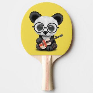 Baby Panda Playing English Flag Guitar Ping Pong Paddle