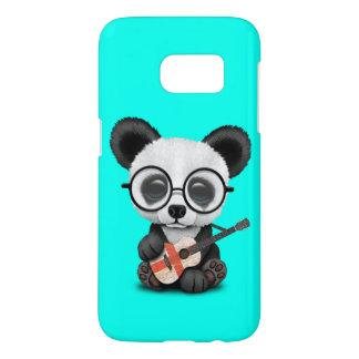 Baby Panda Playing English Flag Guitar Samsung Galaxy S7 Case