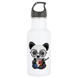 Baby Panda Playing French Flag Guitar 532 Ml Water Bottle