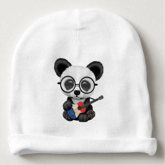 Baby Panda Playing French Flag Guitar Baby Beanie