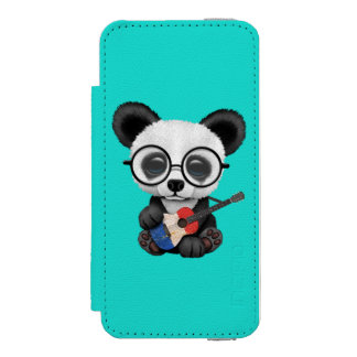 Baby Panda Playing French Flag Guitar Incipio Watson™ iPhone 5 Wallet Case