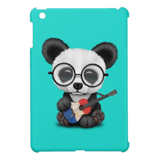 Baby Panda Playing French Flag Guitar iPad Mini Case