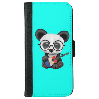 Baby Panda Playing French Flag Guitar iPhone 6 Wallet Case
