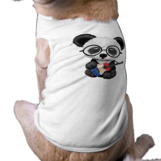 Baby Panda Playing French Flag Guitar Shirt