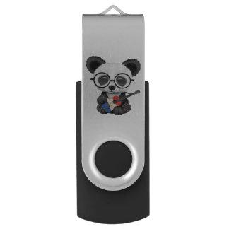 Baby Panda Playing French Flag Guitar USB Flash Drive