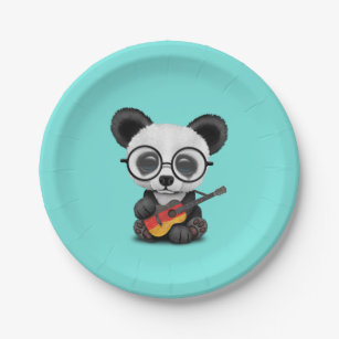 Baby Panda Playing German Flag Guitar Paper Plate  sc 1 st  Zazzle CA & Baby Panda Plates | Zazzle.ca
