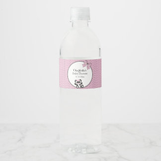 Baby Panda Water Bottle Label