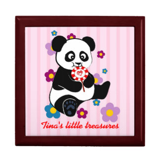 Baby Panda with lollipop Gift Box
