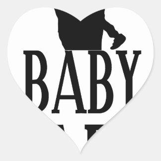 Baby papa heart sticker