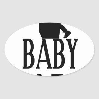 Baby papa oval sticker