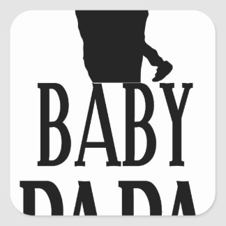 Baby papa square sticker