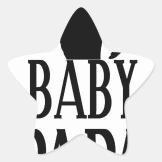 Baby papa star sticker