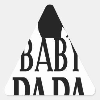 Baby papa triangle sticker