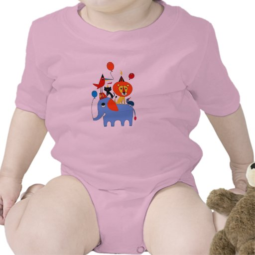 Baby Party Animal Bodysuits
