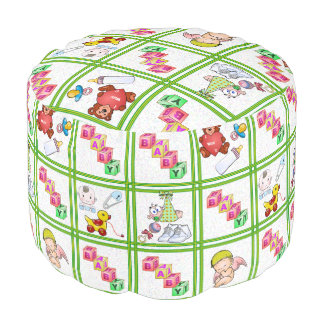 Baby Patchwork Pouf