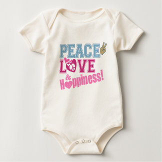 Baby - Peace Love Happiness Baby Bodysuit