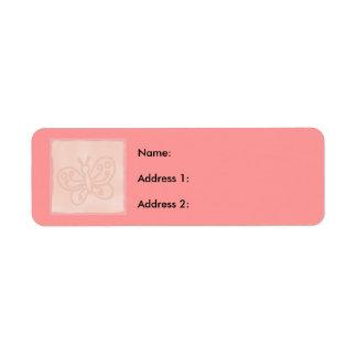 Baby Peach Block Return Address Label