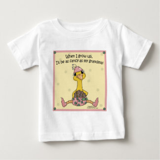 Baby Peahen Fancy as Grandma Baby T-Shirt