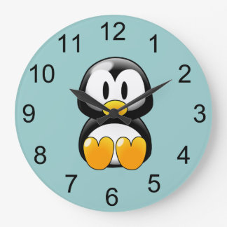 Baby Penguin Animal Wall Clock