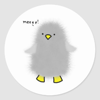 baby-penguin classic round sticker