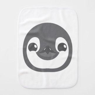 baby penguin face burp cloth
